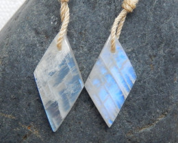 Moonstone Earrings, Rainbow Moonstone Earrings, June Birthstone C426