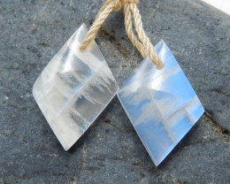 Moonstone Earrings, Rainbow Moonstone Earrings, June Birthstone C416