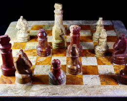 15480 CT Natural Onyx Carved Chess Board Special Shape