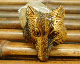 Tiger eye pendant wolf tiger craft bead for jewelry making (G0205)