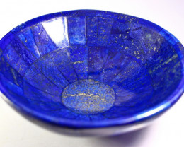 1450.80 CT Unheated ~ Natural Blue  color Lapis Carved Bowl Special Shape