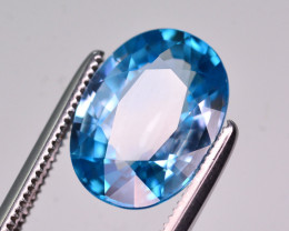 CIGTL Certified 5.065 Ct Natural Vibrant Blue Zircon From Cambodia
