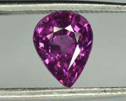 1.55 Cts Pear Shape Grape Garnet / Purple Garnet From Mozambique