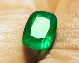 1.48 ct Natural Earth Mined Emerald Certified!