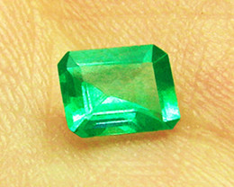 1.08 ct Natural Earth Mined Zambian Emerald Certified!