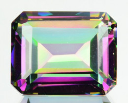~FLASHING~ 4.76 Cts Natural Rainbow Mystic Topaz Octagon Cut Brazil