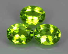 6.50 CTS High Best Natural Apple Green Pakistan Peridot Pair Oval NR!!