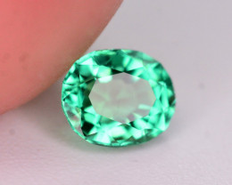 Absolutely Gorgeous Color 0.30 Ct Natural Emerald From Panjsher. ARA
