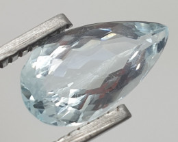 3.17 Ct Aquamarine Pear From Brazil 15x8mm ( SKU 11)