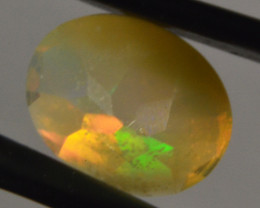 Oval cut  faceted Ethiopian Opal 4,6 Cts. (CV3L8 )