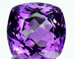 20.05 Cts Natural Purple Amethyst Cushion Cut Bolivia