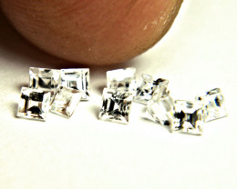 1.41 Tcw. Fancy Cut VS White Zircons - 10pcs - 2.5mm