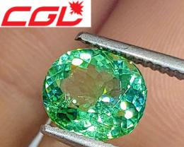 VVS! CGL-GRS Unheated 2.40 CT Lagoon Green Tourmaline (Kunar) $1,300
