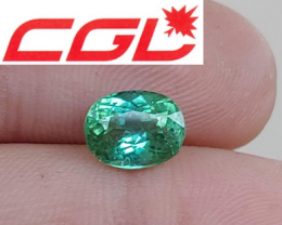 Pretty! CGL-GRS Unheated  2.03 CT Green Kunar Tourmaline $390
