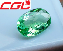 NR! VVS+ CGL-GRS Unheated 2.21 CT Green Kunar Tourmaline