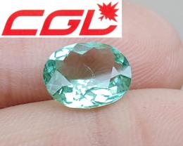 CGL-GRS Unheated 2.41 CT Neon Green Kunar Tourmaline $650