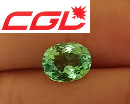 NR! Perfect! Loupe-Clean! CGL-GRS Lagoon Neon Bluish Green Tourmaline