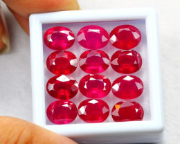 41.06ct Ruby Blood Red Color Oval Cut Lot D173