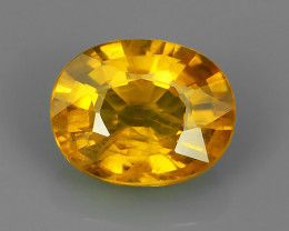 1.50 CTS EXCEPTIONAL NATURAL YELLOW SAPPHIRE DAZZLING!!!