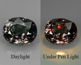 ~FANTASTIC NATURAL GREENISH PURPLE-COLOR CHANGE GARNET OVAL EXCELLENT~