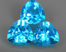 5.90 CT AWESOME NICE QULITY MIXED 8.12MM TRILLION~SWISS BLUE NATURAL TOPAZ~