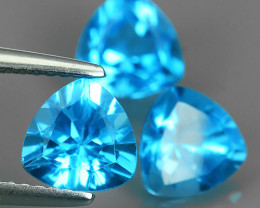 6.60 CTS AWESOME NICE QULITY MIXED TRILLION~SWISS BLUE NATURAL TOPAZ~