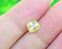 Yellow Sapphire 1.32ct UNHEATED, Natural, Certified (01394)