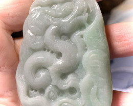 HUGE 449.00CT JADEITE JADE CARVING