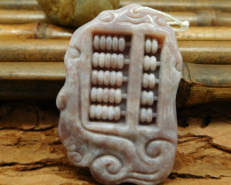 Natural gemstone fancy agate carving pendant bead (G0221)