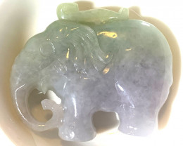 213.00ct Large Jadeite jade Elephant Free standing Carving
