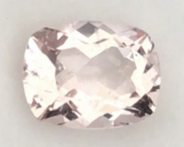 Pinkish Peach Rectangular Cushion Cut Morganite G545