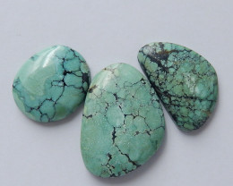 3pcs Lucky Turquoise ,Handmade Gemstone ,Turquoise Cabochons ,Lucky Stone C