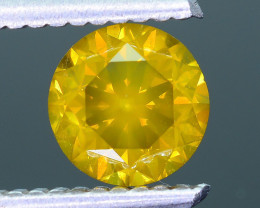 AIG Certified Greenish Yellow 1.13 ct SI2 Clarity Diamond SKU-10
