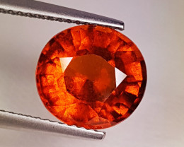 "4.15 ct ""Collector's Gem "" Fantastic Round Cut Hessonite Garnet"