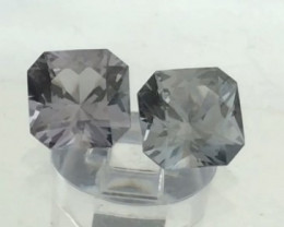 Glowing 6mm Flanders Cut Grey Spinels - Burma  G546HME08HME09