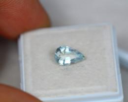 1.05ct Blue Aquamarine Pear Cut Lot V4056