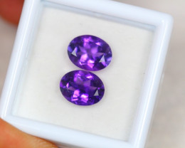 3.50ct Natural Purple Amethyst Oval Cut Lot D394