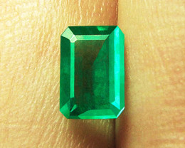 1.22 ct Natural Earth Mined Emerald Certified!