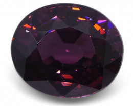 4.77 ct Reddish Purple Zircon Oval IGI Certified