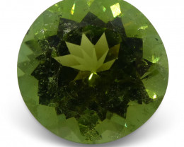 11.64 ct Tourmaline Round IGI Certified - $1 No Reserve Auction