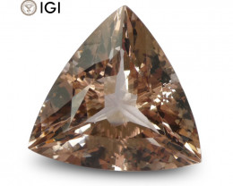 20.89 ct Morganite Triangular IGI Certified