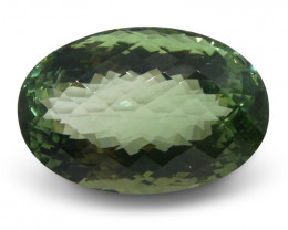 62.89 ct World's Largest Gem Quality Green Andesine Oval IGI Certified