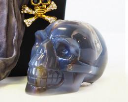 Crystal Jasper Skull with Free Bonus Skull Scarf WS 1000 - 483
