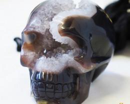 Crystal Jasper Skull with Free Bonus Skull Scarf WS 1004 - 492