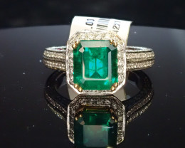 2.19ct Emerald Ring