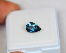 1.47Ct Natural London Blue Topaz Pear Cut Lot Z365