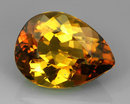 23.80 cts Wonderful pear cut Brazilian Champion Topaz Gemstone