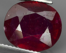 6.25 CTS. NICE NATURAL RUBY TOP LUSTER BLOOD COLOUR~ECELLENT!!