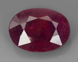 15.95 Ct. Interesting! Big! Oval Facet Top Blood Red Natural Ruby Madagasca