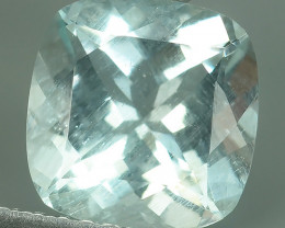 2.00 CTS STUNNING RARE NATURAL LUSTER AQUAMARINE CUSHION